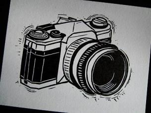 Canon AE1 Linocut
