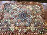 Early Rectangle Wool Penny Rug Tin Cats Antiques
