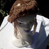 Bonnet alpaga café, crochet