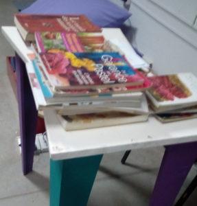 Livre en consultation lors des Ateliers à La Redonda, Argentine