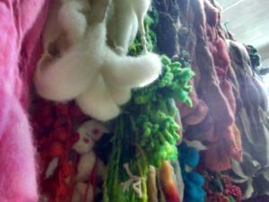 Détail de laine fantaisie