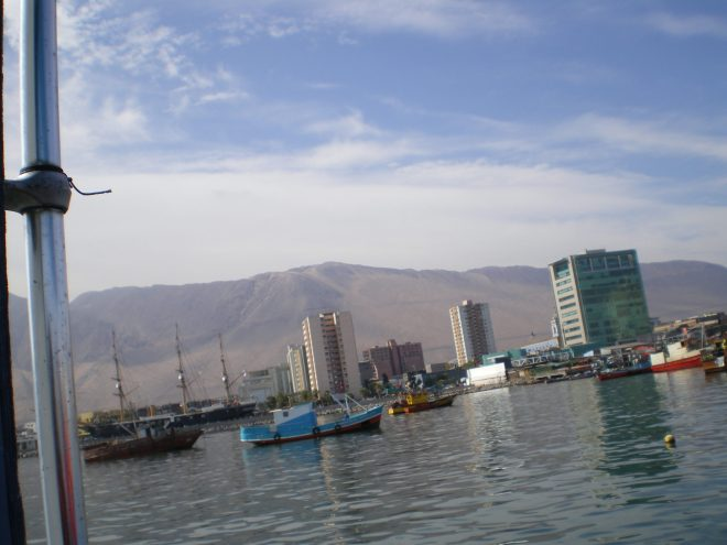 Port d'Iquique, vu depuis les promenades en bateau, qui partent du Muelle Prat