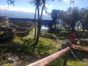 Habitations de la forteresse préinca de Kuelap à plus de 4000 d'altitude, Chachapoyas, Pérou