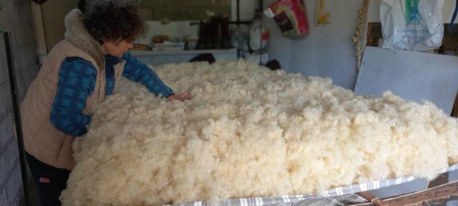 matelas de laine - première couche