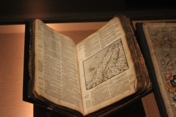Burnt bible 1608, rescued from the Great Fire