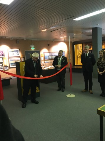 The current Lord Avebury opening the display