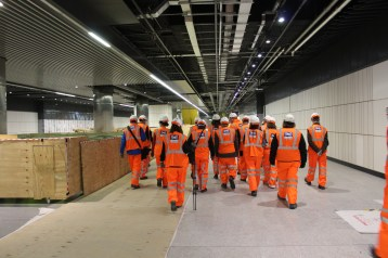 Visiting the 250m long Canary Wharf Crossrail platform