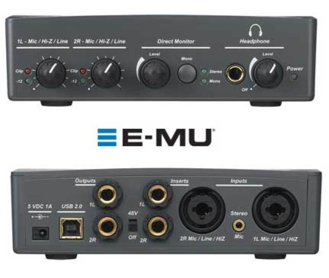 E Mu Tracker Pre Audio Interface