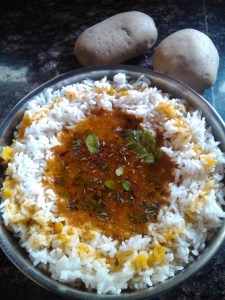 Potato saru/rasam
