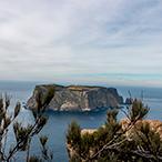 View of Tasman Island from Cape Pillar, Three Capes Track, Tasmania