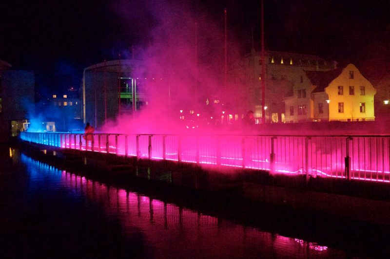 Pink Enchantment by Tine Bech Studio, image from Reykjavik City Hall Bridge, Iceland