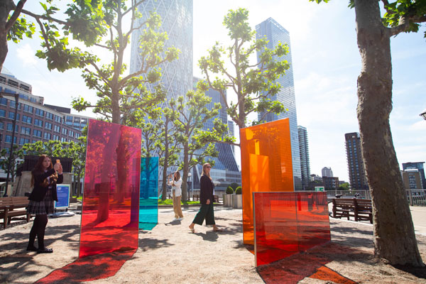 Shine Your Colours, Glass Installation By Tine Bech Studio