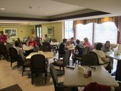 Day 13: We visit the Hope Lodge in Cleveland tomake breakfast and interact with the residents.