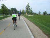 Day 21: Riding into Chicago on the Lakefront Trail was amazing and all the riders reminded me of Denmark =D