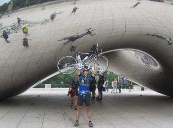 Day 21: Me at the bean in Chicago.