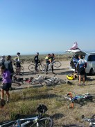 Typical water stop.