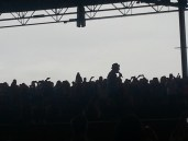 Gavin Degraw sets the mood by roaming the crowd - The Script & Train would do the same!