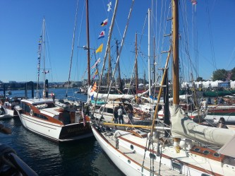A splendid display of sailboats, some dating back to the turn of the century.