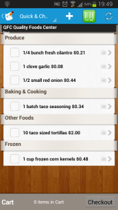 Handy store list right on my droid - added simply by going to the recipe I wanted and adding it to my shopping list.