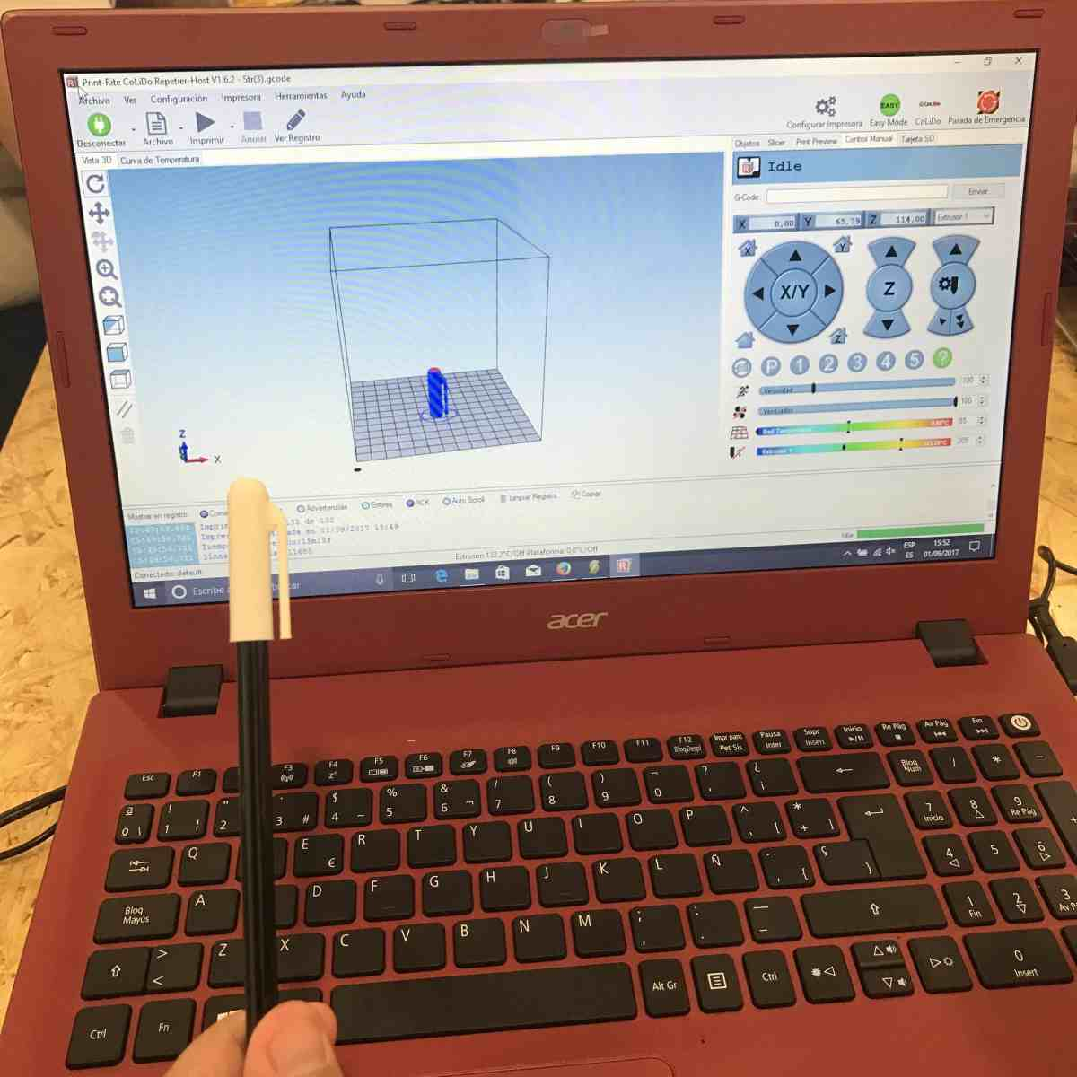 Sesión 5 del curso de Iniciación al diseño para impresión digital en 3D