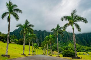 Valley View at the Valley of the Temples in Oahu, Hawai'i