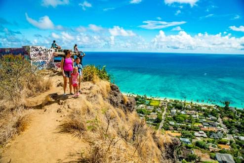 Looking down at Lanikai Beach