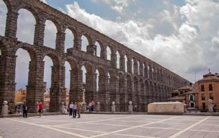 Aqueduct at Plaza del Azoguejo, Segovia