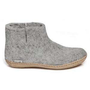 Glerup støvle i grå - 100% naturligt uld - gratis fragt
