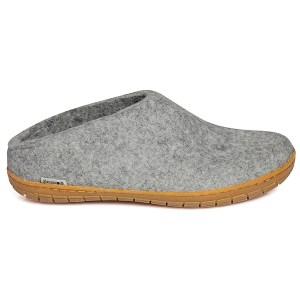 Glerups tøffel i grå med gummisål