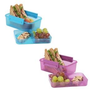 Rumopdelt madkasse til børn - BPA fri - 2 farver - pris 49 + fragt