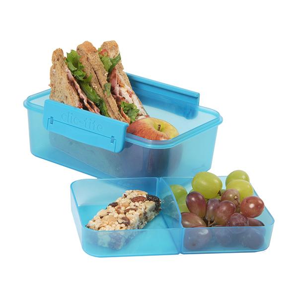 rumopdelt madkasse til børn - BPA frit materiale her i turkis