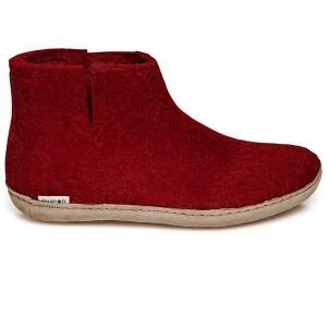 Glerups støvle rød med skindsål - gratis fragt