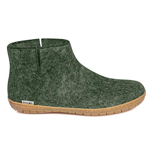 Glerups kort støvle i grøn med gummisål - gratis fragt og hurtig levering