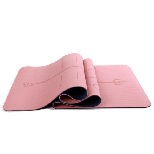Yoga måtte i smukke feminine farver - 6 mm tyk - kr 299