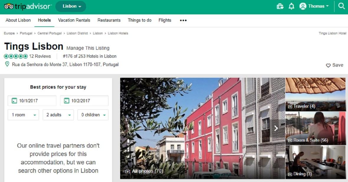 TripAdvisor Tings Lisbon