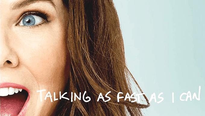 Lauren Graham na capa do livro Falando o Mais Rápido que Posso