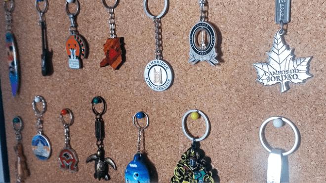 chaveiros de viagem
