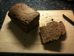 Spelt, fig and walnut bread