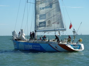 De Lage Landen during a sailing evolution