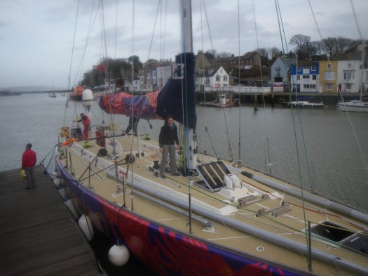 CV9 Qingdao Clipper Yacht Weymouth Harbour