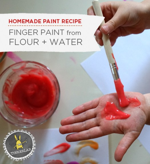 Easy Homemade Finger Paint Tinkerlab Com