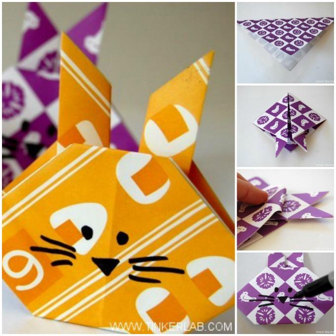 origami rabbit head