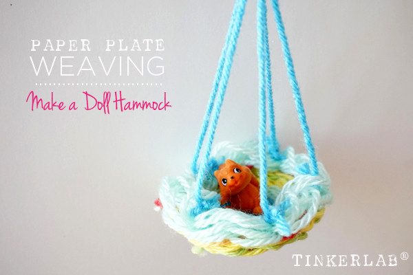 Make a paper plate weaving into a doll hammock | Easy Weaving project for kids