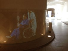 Images projected on tunnel walls