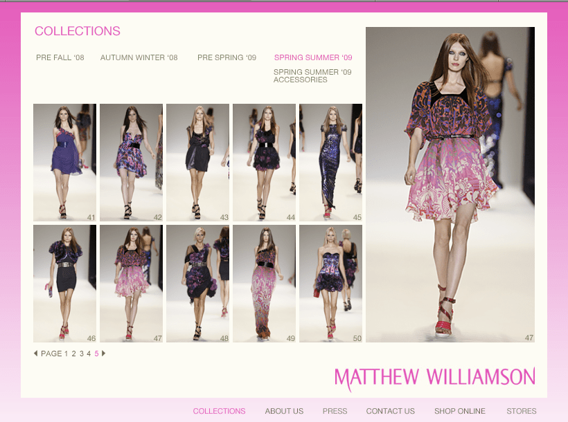 Matthew Williamson SS09 couture collection