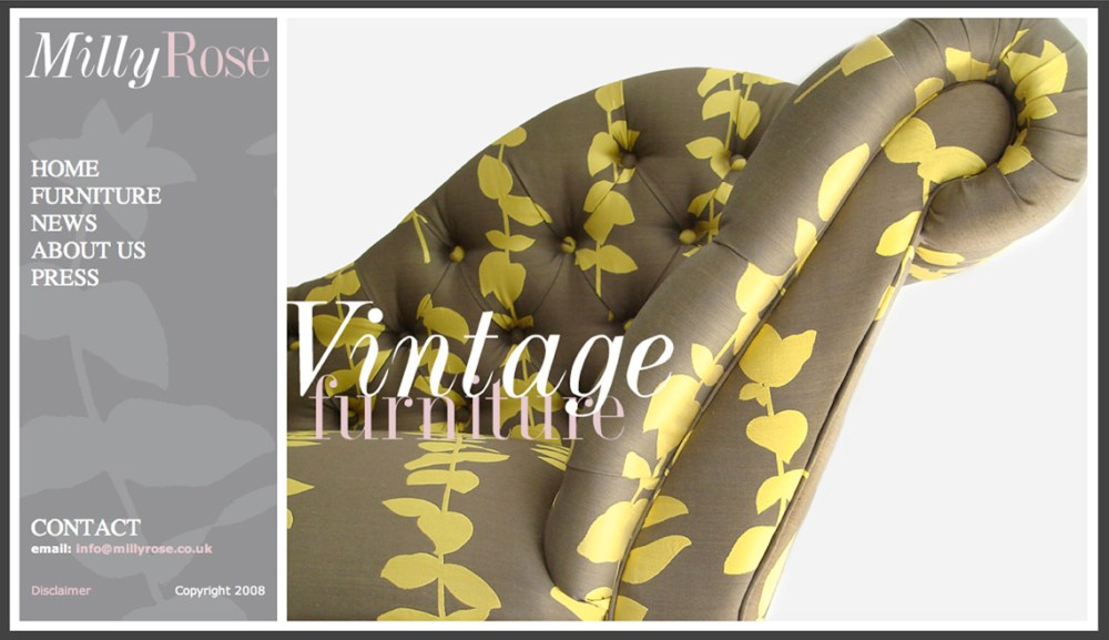 Milly Rose; vintage furniture with personality (1/2)