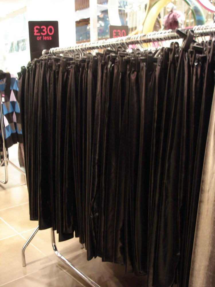 Dead trendy.  Fashion victims bid farewell to wet look leggings