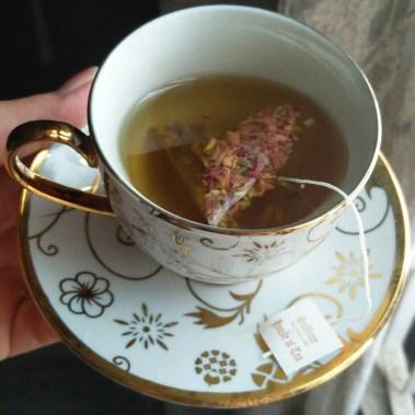 Beautiful tea steeping away