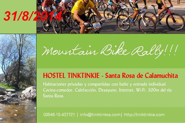 Hostel Tinktinkie, Hostel Santa Rosa de Calamuchita,Rally Mountain Bike