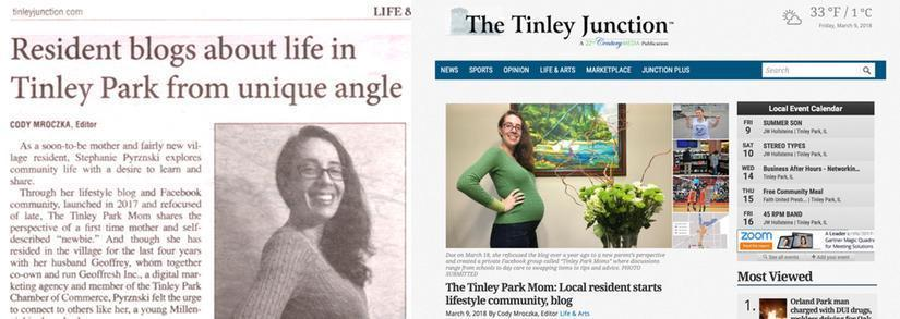 Tinley Park Mom Interviewed by Tinley Junction Newspaper For Women's Day